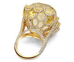 and with an equally prodigious history, the Cullinan yellow asscher-cut diamond, The glorious yellow diamond originated in South Africa, making its way to the British crown jewels in 1907 under King Edward VII. by catrulz I Love Jewelry, Jewelry Rings, Jewelery, Jewelry Accessories, Fine Jewelry, Jewelry Design, Royal Jewels, Crown Jewels, Asscher Cut Diamond