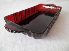 Vintage Royal Ruby Red Depression Glass by MooncrestVintage