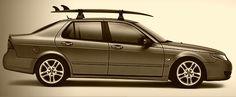 2009 Saab 9-5 Aero Luxury Sports Sedan With Genuine Saab Roof Rack