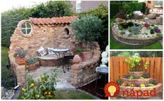 Úžasné nápady, ako si vylepšiť záhradu pomocou obyčajných tehál. Stačí dobrý nápad, pár hodín voľného času a môžete vytvoriť úžasné veci, ktoré vám budú všetci len ticho závidieť. Ktorá inšpirácia sa vám páči najviac? Backyard, Outdoor Decor, Gardening, Home Decor, Side Yards, Garden Design, Gardens, Homemade Home Decor, Yard