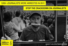 Journalists need our help! Speak out on World Press Freedom Day: http://www.amnestyusa.org/our-work/issues/censorship-and-free-speech/press-freedom/world-press-freedom-day