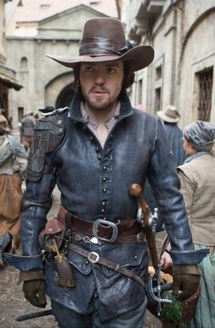Bbc Musketeers, Tom Burke, Toms, Leather Jacket, Jackets, Walking, Scene, Street, Fashion