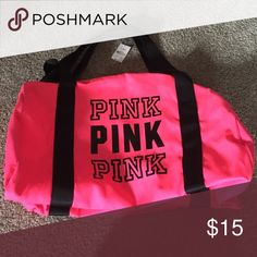 Pink Victorias Secret Duffel Bag Never used PINK Victoria's Secret Bags Travel Bags