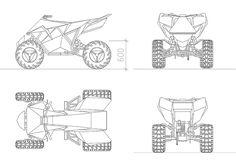 Tesla Cyberquard ATV CAD Block Routine Work, Cad File, Cad Blocks, Cad Drawing, Autocad, Atv, Drawings, Vehicles, Car Drawings