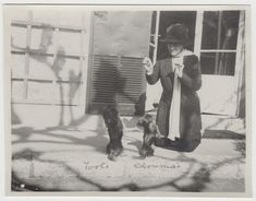 Photograph of Edith Wharton with dogs Toots and Choumai (from disbound photo album, n.d.)
