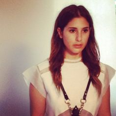 Mariella at our AW12 photoshoot in the SWALLOW harness - now available at @עמנואל כבירי Jewellery