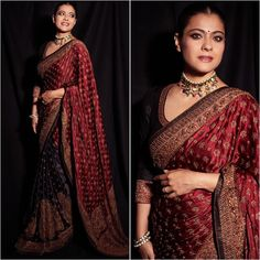 Here's why Kajol loves wearing sarees Saree Blouse Patterns, Saree Blouse Designs, Indian Wedding Outfits, Indian Outfits, Indian Clothes, Kajol Saree, Designer Sarees Wedding, Wedding Sarees, Wedding Saree Collection