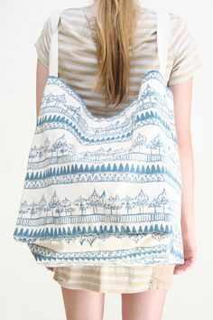 "Virginia Johnson Giant Tote in ""Umbrella"" print #bag"