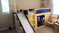 Kura transformed into Bed / Play Structure combo - IKEA Hackers
