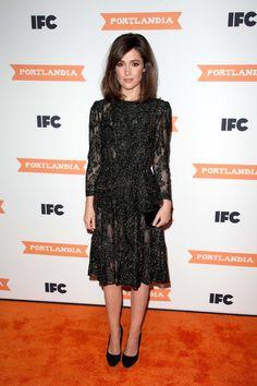 In Vintage at IFC's Portlandia season three premiere, New York, 2012