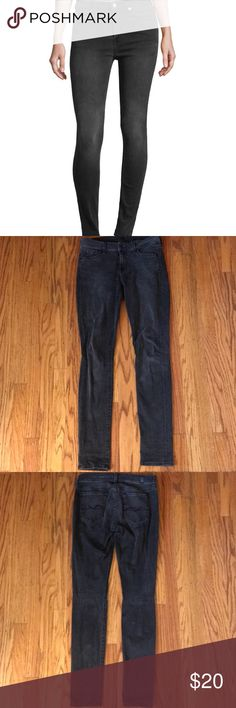 7 For All Mankind grey skinny jeans 7 for all mankind grey skinny jeans in excellent condition. 7 For All Mankind Jeans Skinny