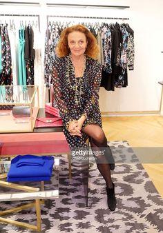 Diane von Fuerstenberg attends an Evening With Diane von Fuerstenberg at KaDeWe on November 12, 2015 in Berlin, Germany.