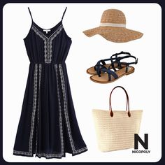Este look Nicopoly es ideal para un día de playa.