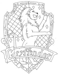 The Gryffindor Crest Had So Much Fun Drawing This Will Also Colour It XD