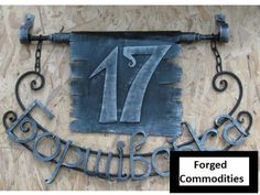 House number sign house number for front door house number farmhouse house number garden signhouse number hanginghouse number lawn sign Farmhouse House Numbers, House Number Plaque, Lawn Sign, House Front Door, Copper Art, Unusual Homes, Iron Work, Tropical Decor, Hanging Signs