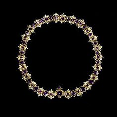 Amethyst, Crystal and Gold Necklace c.18th Century. Victoria & Albert Museum Collection.