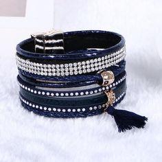 2016 New Various Fashion Styles Magnetic Leather Bracelet Women Handmade Bangles Friendship Jewelry Gift Items Pulseira Feminina Tassel Bracelet, Bracelet Cuir, Crystal Bracelets, Bangle Bracelets, Leather Bracelets, Bangles, Friendship Jewelry, Bohemian Bracelets, Layered Bracelets