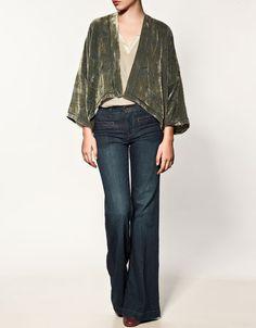 printed silk jacket from zara