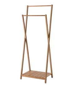 Brown bamboo double hanger Sale - Compactor Sale
