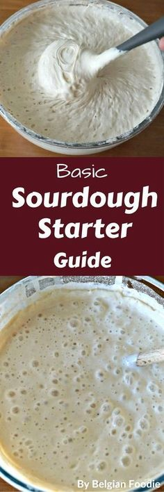 Basic Sourdough Starter Guide Learn how to create, maintain and use your own sourdough starter. This guide will convince you to get started.Learn how to create, maintain and use your own sourdough starter. This guide will convince you to get started. Bread Machine Recipes, Bread Recipes, Cooking Recipes, Cooking Food, Muffin Recipes, Sourdough Recipes, Sourdough Bread Starter, Bread And Pastries, Fermented Foods