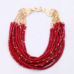 $14.57 Fashion Vivid Colored Multi-Layered Beaded Alloy Necklace For Women
