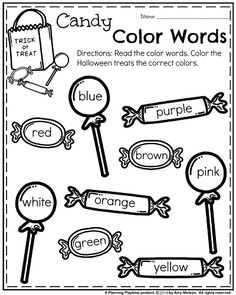 First Grade Worksheets For Spring Free 1st Grade Worksheets Math Worksheets For 6th Graders With Answers October Kindergarten Worksheets Candy Color Words