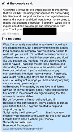 Angry Bride Fires Wedding Photographers As They Support Gay Marriage But She Didn't Expect This