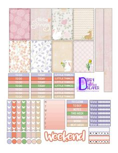 Springtime Kit Freebie for Happy Planner