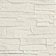 Papel Pintado New Walls NWS_1847_50_05, elegante papel de imitación pizarra en tono blanco roto.