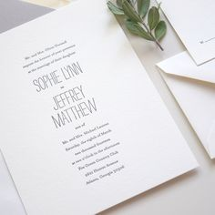 m a r r i a g e sample minimalist chic letterpress wedding invitation flat printing also available by luckypennypaperie on - Boutonnire Invit Mariage