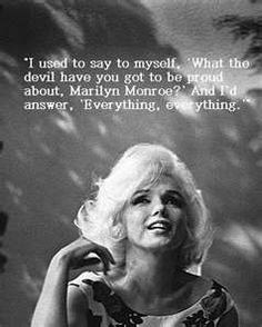 "Ask yourself, ""What the devil have you got to be proud about?"" :)"