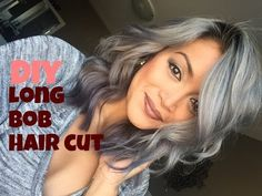 DIY Long Bob Haircut Tutorial - YouTube