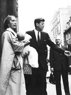 Mr~~~John F Kennedy After the Christening of Anna Christina Radziwill (Held by Godmother Countess Potocki) ❤❤❤ ❤❤❤❤❤❤❤   http://en.wikipedia.org/wiki/John_F._Kennedy