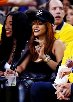Rihanna attends Game One of the 2015 NBA Finals between the Golden State Warriors and the Cleveland Cavaliers at ORACLE Arena on June 4, 2015 in Oakland, California.