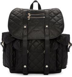 dd279c426479 Balmain - Black Quilted Backpack Mens Designer Backpacks