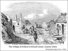 The village of Killard in Kilrush, County Clare. Moral Evil, Irish Famine, Dog Smells, County Clare, Fight For Freedom, Victorian Era, Ireland, Selfish, Art Pieces