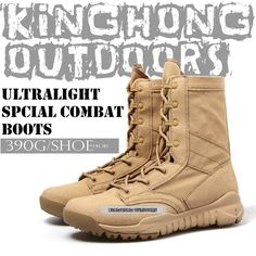 Men's Lace Up Breathable DESERT Hiking boots Army Military Boots Tactical Lightweight Combat Boots Free shipping(12001) $106.24