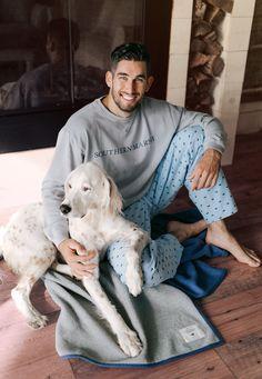 Furry friends & cotton sleepwear. #southernmarsh #sleepwear #men