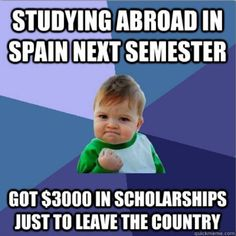 Free money just to study abroad? Success!