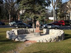 The grave of Louis Riel in St. Boniface Cathedral Cemetary in Winnipeg, Manitoba  -