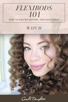 Using flexi rods on natural hair is an easy way to define curls without heat damage. Click to watch how easy it is to style beautiful heatless curls with these wand-like spirals and four Carol's Daughter fan favorites.
