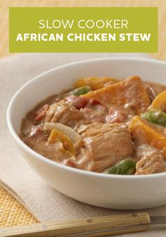 Slow cooker chicken stew, Slow cooker chicken and Stew on Pinterest