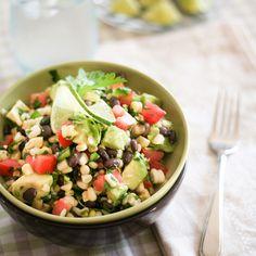 Black Beans and Raw Corn Salad