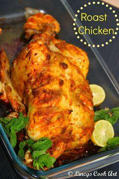 Lincy's Cook Art: Roast Chicken/ Spicy Pan Roasted Chicken/ Pan Roast Chicken