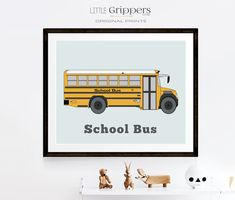 School bus print, Vehicle decor, Kids Printable wall art, Toddler wall art, Transportation art, Boys room decor, Nursery decor, Bus wall art Airplane Wall Art, Car Wall Art, Art Wall Kids, Boys Room Decor, Kids Decor, Nursery Prints, Nursery Decor, Vintage Nursery, Online Printing Services
