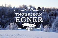Egner Anniversary Logo by Maria Hammerstrøm, via Behance