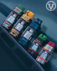 Check out the Smok TFV8 Family of beast tanks taking a group picture. Swing by the EVCigarettes website to view our selection of attys and drip tips to give yours a unique look.  We also just lowered prices of the full sized Smok TFV8 Cloud Beast, which i