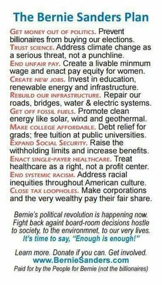 Vote for Bernie Sanders! Bernie Sanders For President, Political Science, Political Quotes, Presidential Election, How To Get Money, New Job, Planer, Morality, Bern