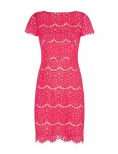 Just Arrived Candice Red Berry Lace Dress