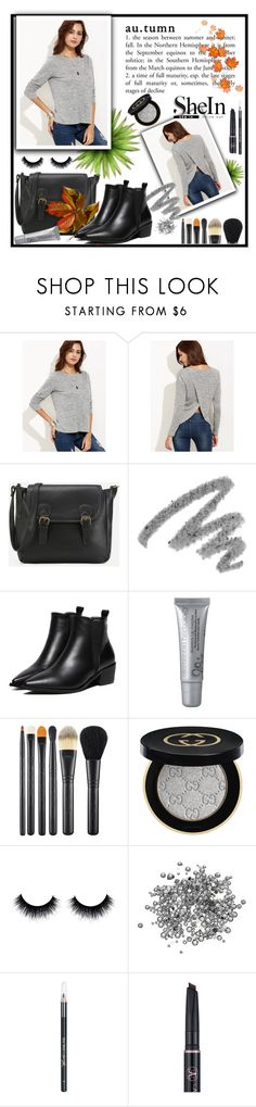 """Shein 7/3"" by erina-salkic ❤ liked on Polyvore featuring Yves Saint Laurent, MAC Cosmetics, Gucci and Barry M"
